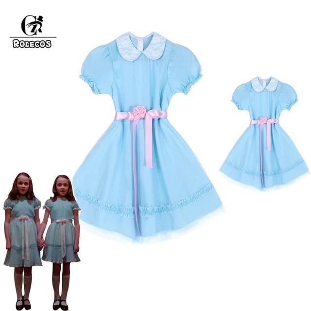 ROLECOS ילדי ליל כל הקדושים תלבושות את הניצוץ תאומים קוספליי תלבושות ילדים שמלת ילדה ליל כל הקדושים שמלת הורה לילד מתוק בגדים