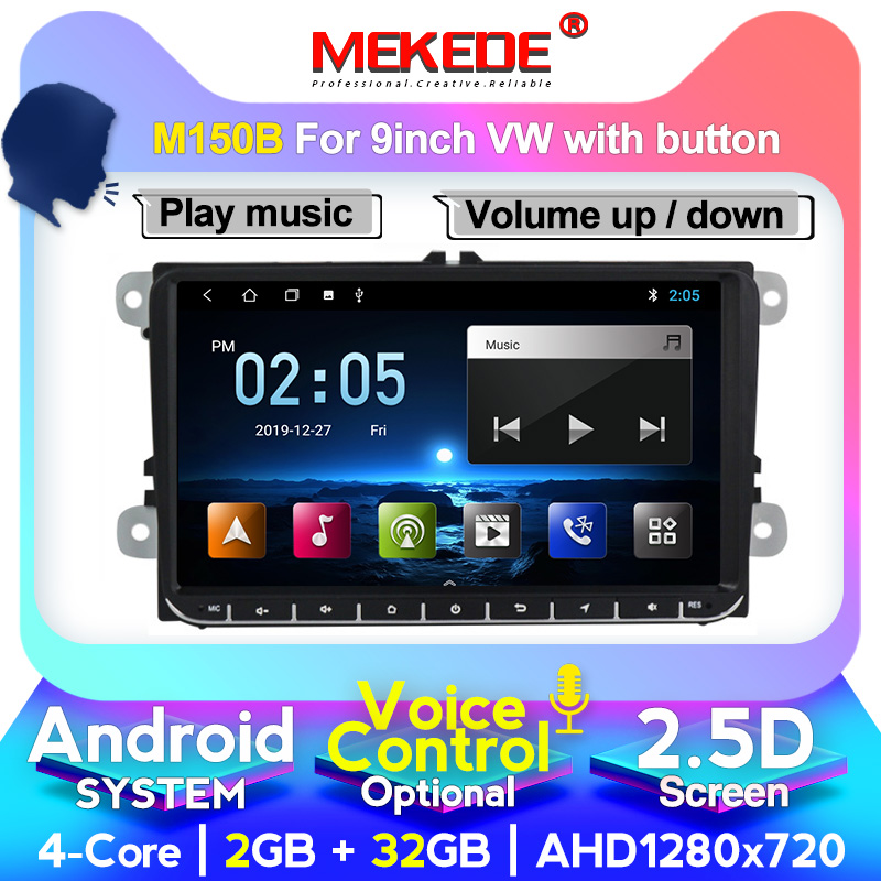 MEKEDE 9inch Touch screen Android 10.0 car Audio for  passat b7 b6 golf 5 polo tiguan octavia support GPS navi Ipod BT radio mic