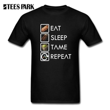Funny T Shirts Ark Survival Evolved Eat Sleep Tame Repeat Best T-Shirts Man Cotton Short Sleeve Hot Sale Mens Tees Round Collar