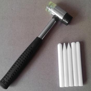 Zestaw narzędzi z kranu w dół w 5 głowice-bezlakierowe usuwanie wgnieceń Knockdown zestawy narzędzi-biały nylon pióro-dla zawieszenie panel zestawy naprawcze tanie i dobre opinie CN (pochodzenie) PDR Tap Down Tool 0 07kg