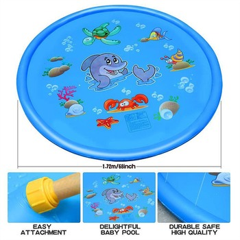170cm Summer Children's Outdoor Play Water Spray Games Beach Mat Lawn Inflatable Sprinkler Cushion Toys Cushion Gift Kids Baby 4