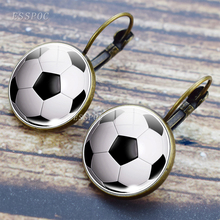 Bronze Earring Creative Basketball Football Baseball Volleyball Hook Wedding Party Jewelry Gifts
