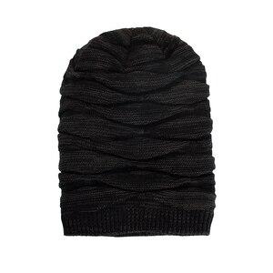 Image 3 - TOHUIYAN szydełkowa czapka kapelusz dla mężczyzn Slouchy jesień czapki zimowe moda czaszka czapka z dzianiny Hip Hop grube ciepłe czapki Baggy kobiety kapelusz