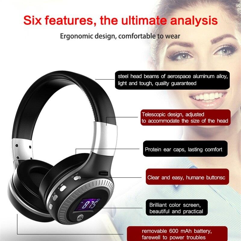 lowest price ZEALOT B19 Headphones LCD Display HiFi Bass Stereo Earphone Bluetooth Wireless Headset With Mic FM Radio TF Card Slot Headphones