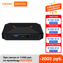 Mini PC CHUWI Herobox 4K, Intel Celeron N4100, 8GB RAM, 256GB SSD (ampliable con HDD), UHD Graphics 600, Windows 10, VESA
