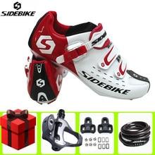 Sidebike Road Fietsen Schoenen Voegen Pedaal Set Lock Sapatilha Ciclismo Zelfsluitende Fiets Ultralight Athletic Racing Sneakers