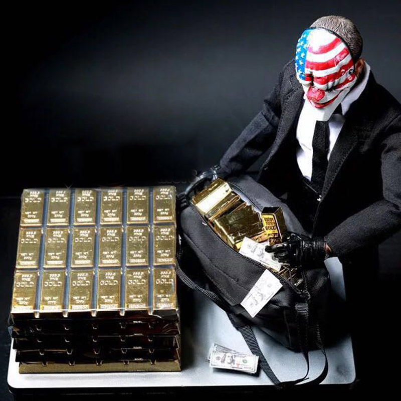 1/6 Scale Gold Bullion Gold Brick Model Fit For 12in Action Figure Accessories Toys