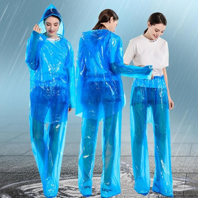 Unisex Disposable Waterproof Gown Anti-contact Clothes Raincoat Rainproof PPE protective suit Anti-Viruses Protective Suit 1
