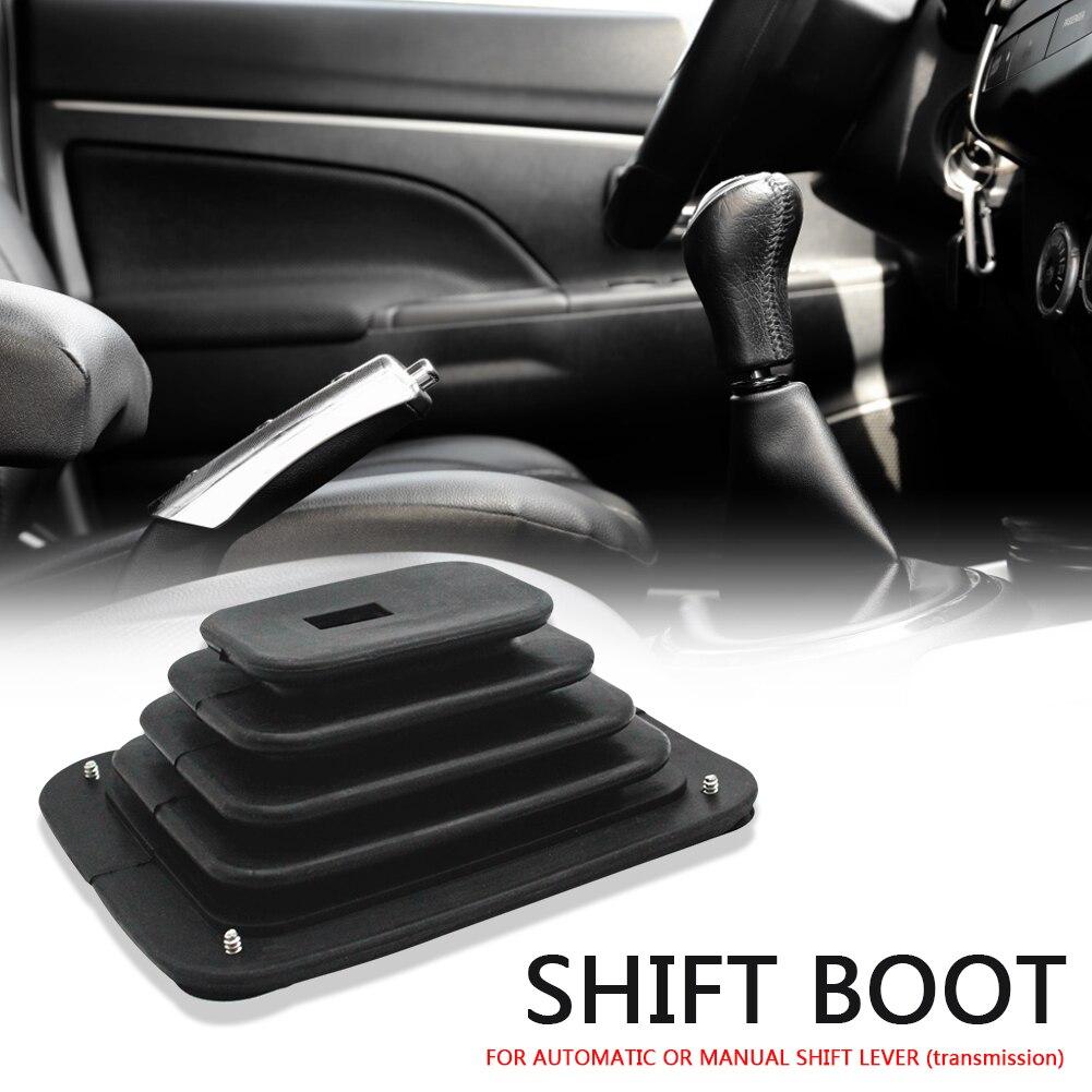 Vodool shifters manual de transmissão automática borracha shifter bota gaitor com placa cromo 5 5/8x6 3/4 350 para hurst, para b & m