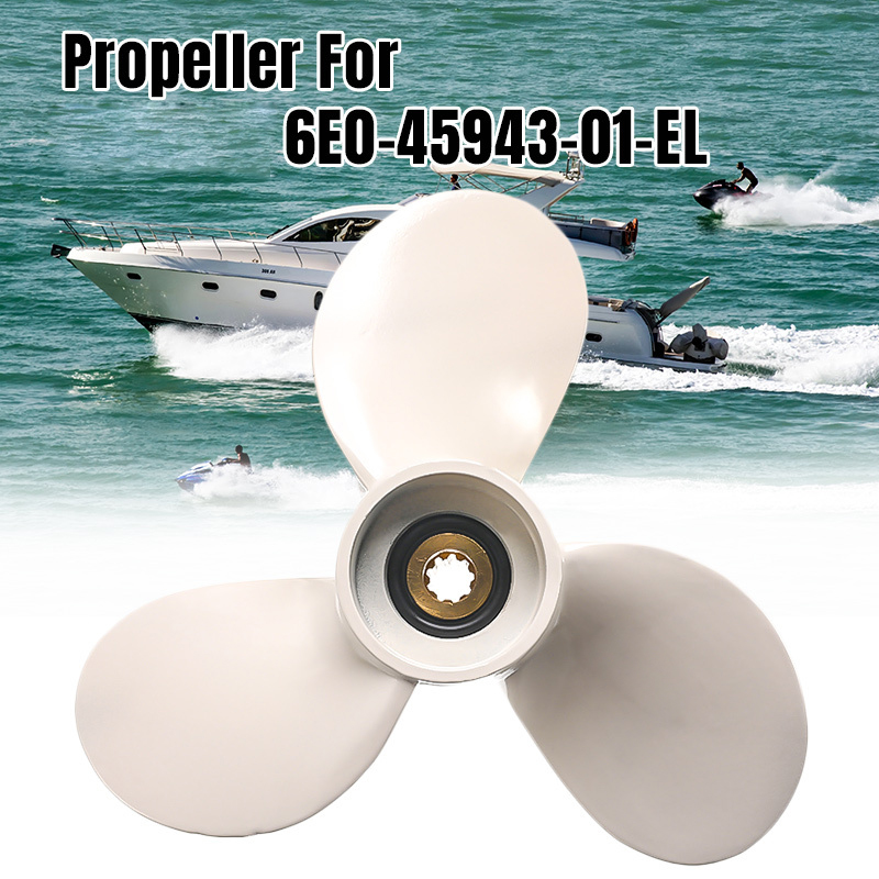 Boat Engine Propeller Marine 8 Tooth Spine Aluminum Alloy Propeller Propellers 7 1/2 X 7-BA For 4-6HP Outboard