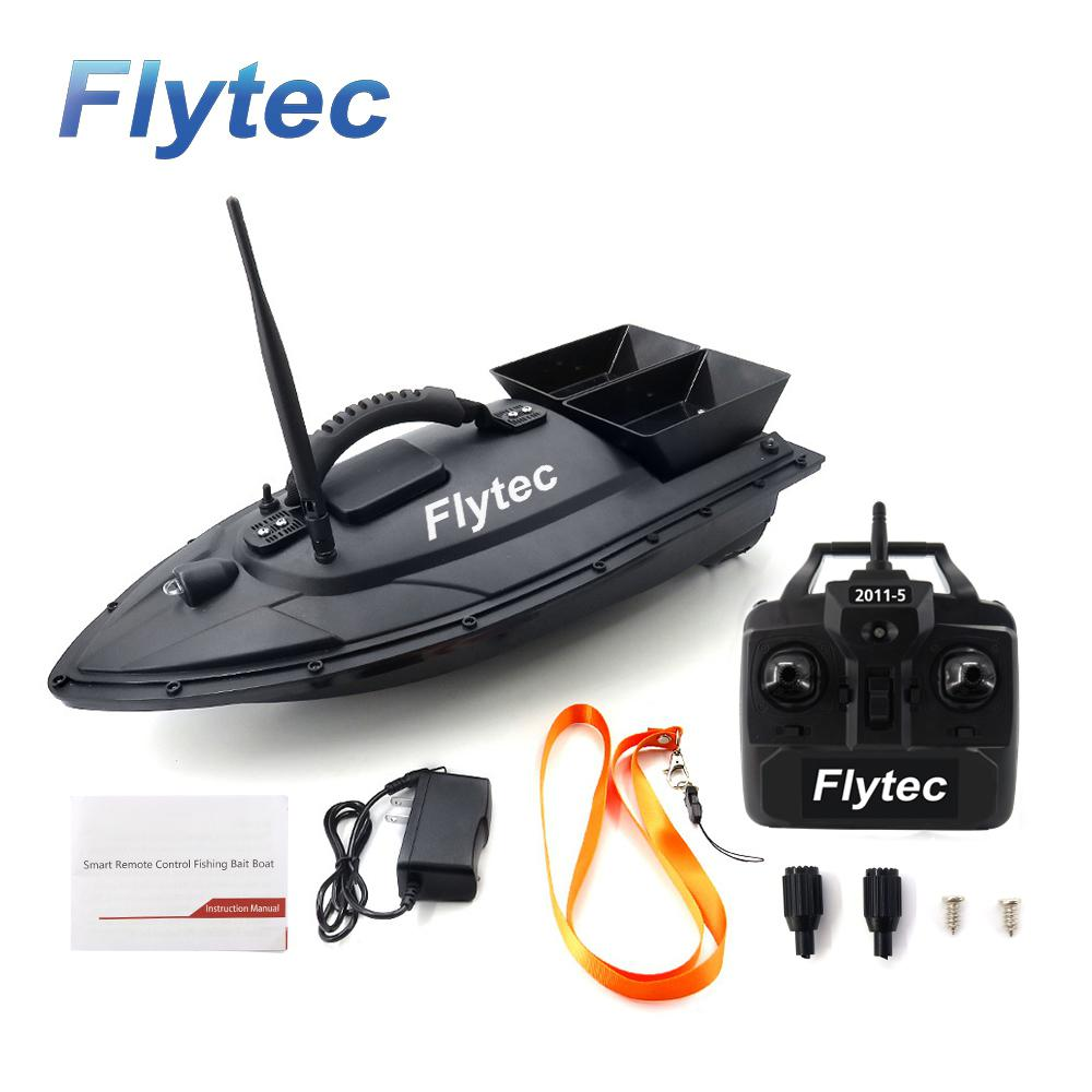 LeadingStar Flytec 2011-5 Electric Fishing Bait RC Boat 500M Remote Fish Finder 5.4km/h Double Motor Toys Kit / RTR Version
