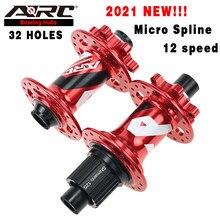 ARC Micro Spline / Srame XDR, 32 отверстия, дисковый тормоз, 6 болтов, велосипедный концентратор для горного велосипеда, 4 герметичных подшипника Shimano 8 9 10 11...