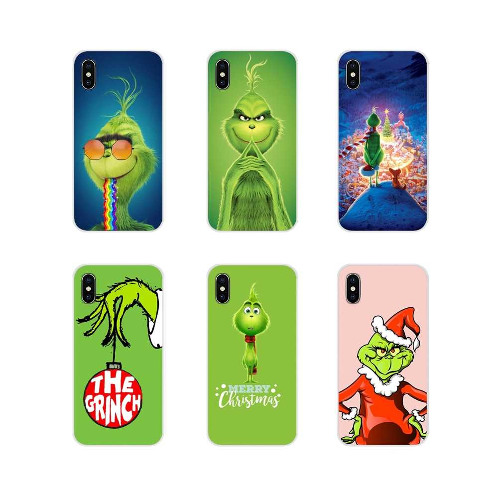 Зеленый монстр Grinch палантин Рождество для huawei G7 G8 P7 P8 P9 P10 P20 P30 Lite Mini Pro P Smart Plus 2017 2018 2019 чехлы