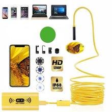 8 ミリメートル 1200 1080P 2 メートル 3.5 メートル 5 メートル HD WiFi 検査カメラ IP68 防水 USB 内視鏡ボアスコープサポートアンドロイド IOS の Iphone の Windows Mac