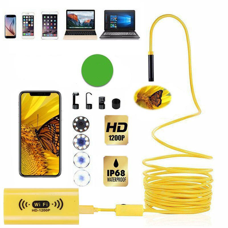 8mm 1200P 2M 3.5M 5M  HD WiFi Inspection Camera IP68 Waterproof USB Endoscope Borescope Support Android IOS Iphone Windows Mac