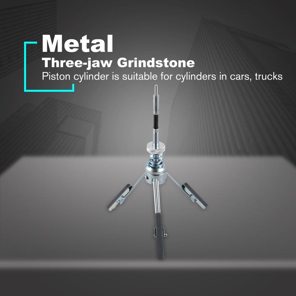 3 Jaw Adjustable Car Engine Cylinder Hone Stones Flexible Shaft Bore Honing Tension Tool 3 Jaw Bore Honing Tool