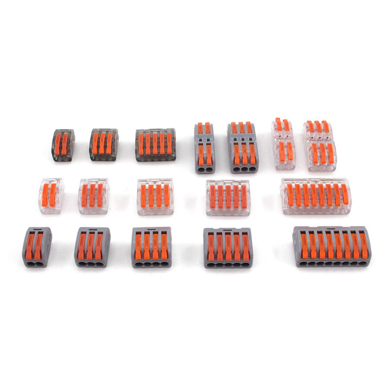 High Quality Conectors Mini Fast Wire Connector Universal Compact Wiring Conductor 222 PCT-212 213 Push-in Terminal Block China