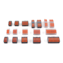 High Quality Conectors Mini Fast Wire Connector Universal Compact Wiring Conductor 222 PCT-212 213 Push-in Terminal Block China цена в Москве и Питере