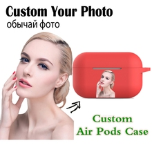 Cases Air-Pod-Cover Airpods Photo-Name-Logo Custom Image-Letters Bluetooth Wireless