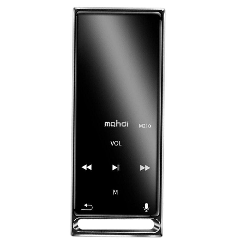 Mahdi M210 Mp3 Player Bluetooth Press Screen 1.8 Inch Portable Sports Usb Hd Hifi Music Player 16Gb Support Tf Card