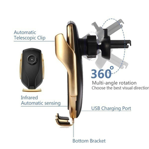 Image 5 - 10W אלחוטי מטען לרכב עבור סמסונג S20 אולטרה בתוספת פשוט מהיר חכם חיישן Wirless מטען עבור iPhone 12 מיני 11 פרו XR XS מקסימום
