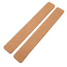 2pcs Cork Board Strips Cork Bulletin Bar Strips Frameless Memo Board for Office