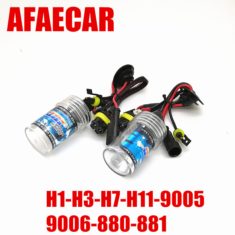 1 pair 12V 35W HID Xenon Bulb H1 H3 H7 H11 9005 9006 880 881 12V Auto Car xenon D2S Headlight Lamp in Car Headlight Bulbs Xenon from Automobiles Motorcycles