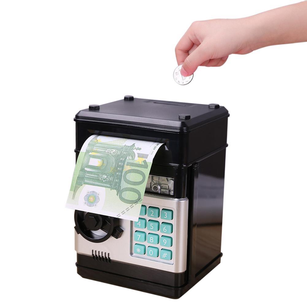 Hucha electrónica con contraseña para guardar dinero, caja de dinero para ahorrar monedas, ATM, caja fuerte de banco, papel de desplazamiento automático, regalo para niños