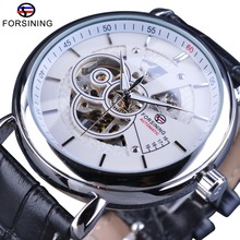 купить FORSINING Fashion Sport Skeleton Winding British Casual Men Automatic Wrist Watches Top Brand Luxury Clock Montre Homme по цене 1269.41 рублей