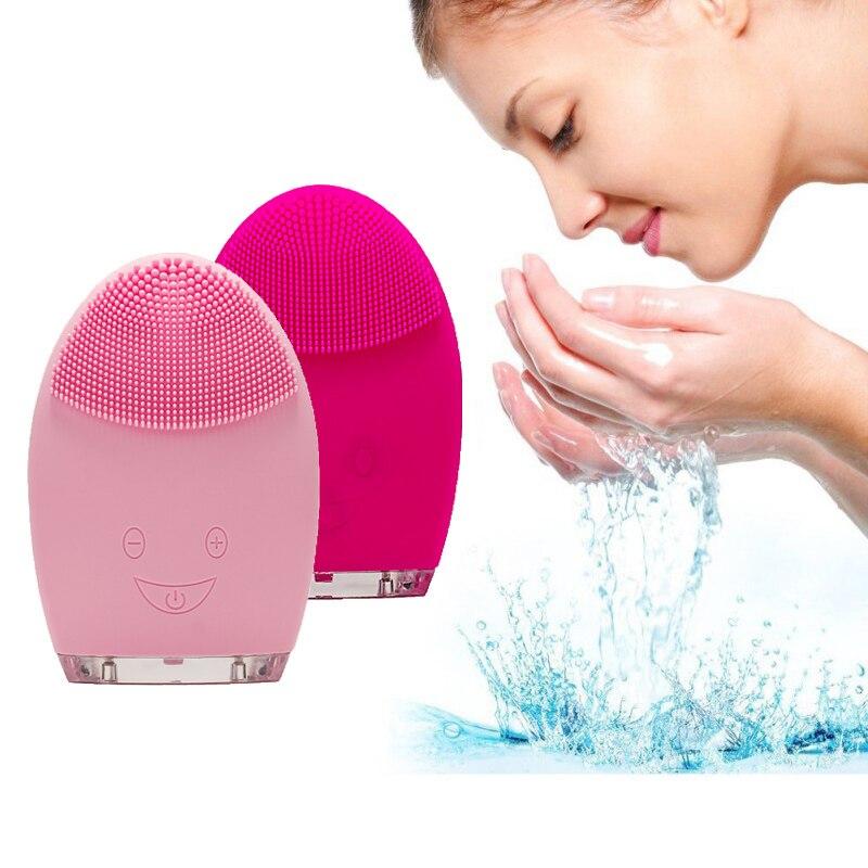Brosse de nettoyage du visage électrique nettoyant pour le visage brosse de lavage Mini brosse faciale électrique étanche Silicone VIP livraison directe