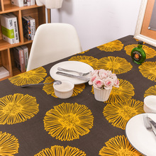 Chamomile Floral Pattern Tablecloths Rectangular Thicken 100% Cotton Table Cloth Dustproof Oilproof Home Decoration Cover