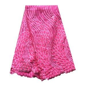 Image 5 - Tissus en dentelle africaine vert émeraude, tissus de haute qualité en dentelle à séquence, 5 yards, tulle français en dentelle pour robe pour femmes