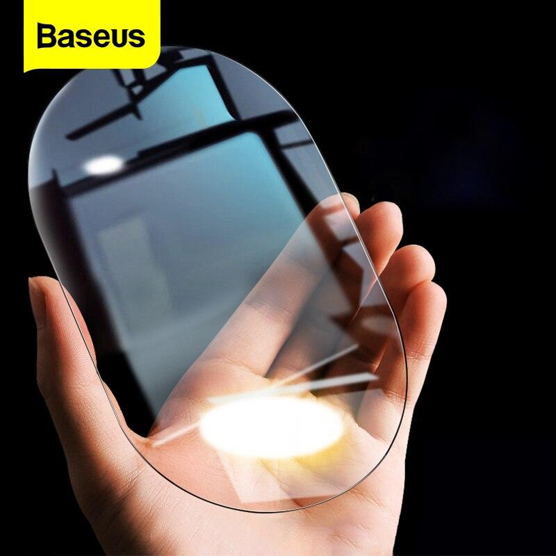 Baseus 2Pcsกระจกมองหลังรถยนต์กระจกฝนฟิล์ม0.15มม.ด้านหลังดูกระจกAntiหมอกป้องกันภาพยนตร์หน้าต่างFoilsสติ...