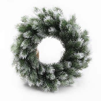 10/20pcs Christmas wreath material artificial plants wedding decorative flowers wreaths home decor Plastic pine needle snowflake - discount item  28% OFF Festive & Party Supplies