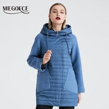 MIEGOFCE 2020 nowa kolekcja damska kurtka wiosenna stylowy płaszcz z kapturem Patch kieszenie podwójna ochrona przed wiatrem Parka