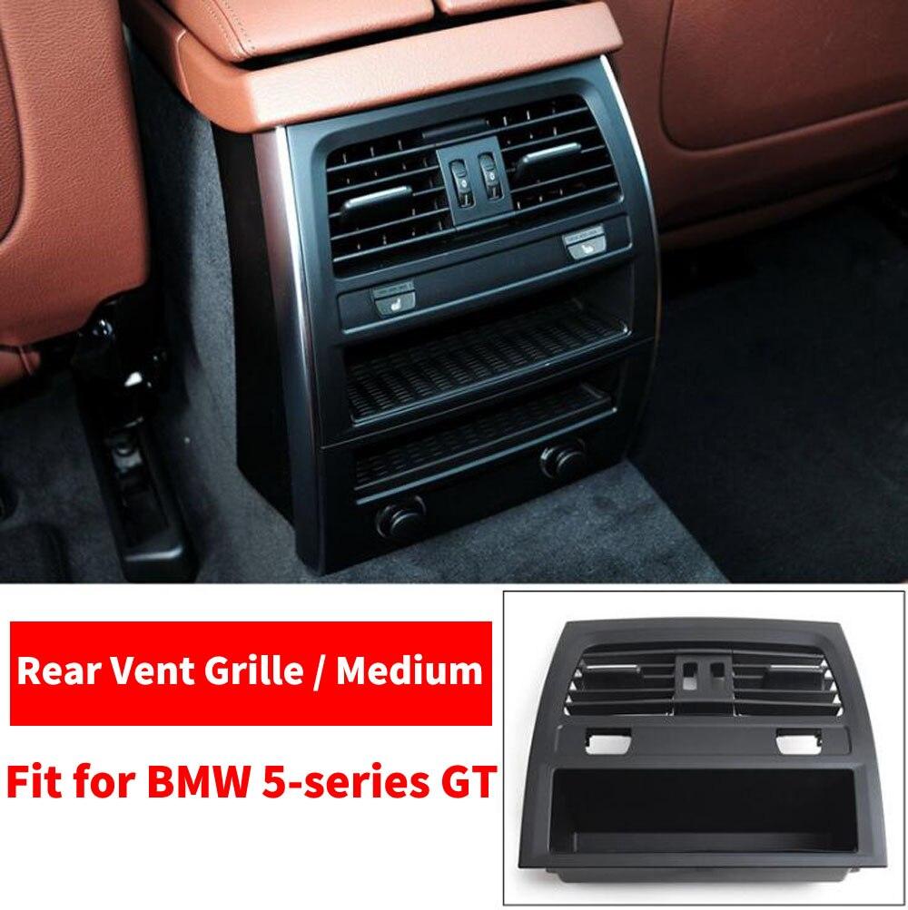 Voiture arrière rangée A/C climatiseur Chrome intérieur sortie évent tableau de bord Grille pour BMW série 5 GT 528 535 F07 2010 2017 - 6