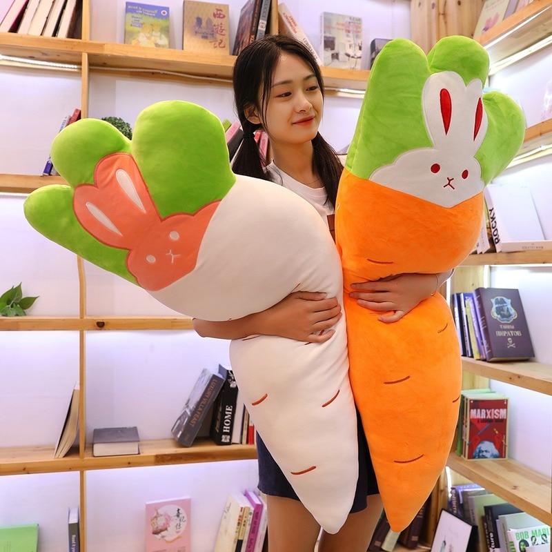 Новинка плюшевая морковка игрушки прекрасный кролик Мальчик и девочка подарок на день рождения Подушка для сна