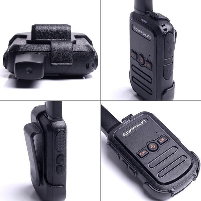 2pcs OPPXUN C51 MINI Walkie Talkie Portable Ham Radio Station Telsiz Headset Transceiver Children Long Range cb Radio Telefon CD 4