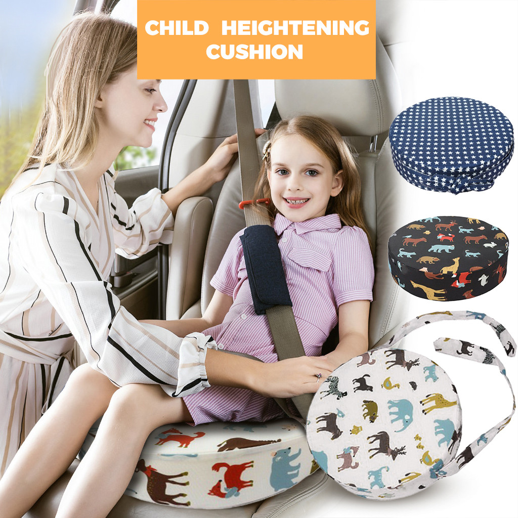 Baby Kids Dining Chair Booster Seat Cushion Round Removable Portable Thick Sponge Chair Increasing Pad Child Car Seat Cushions(China)