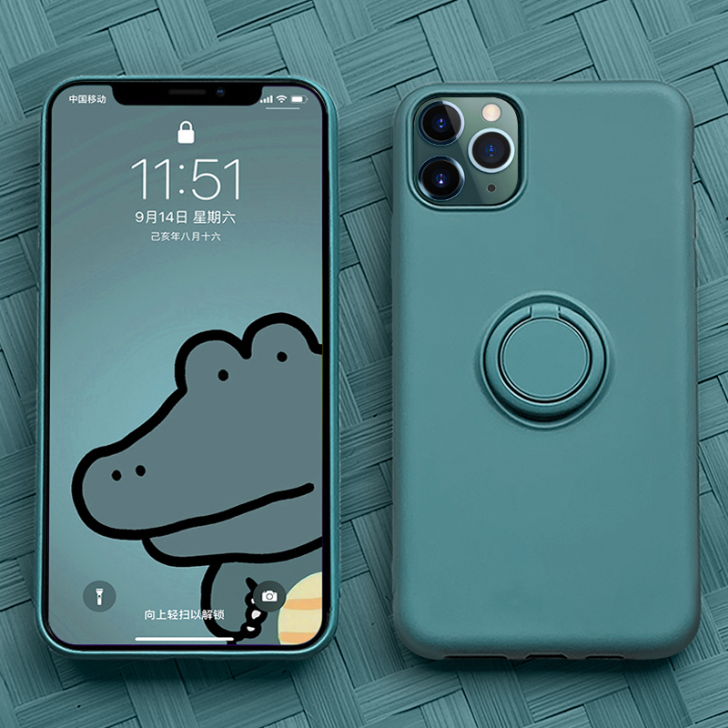 Soft Silicone,Cover,<font><b>Case</b></font> <font><b>For</b></font> <font><b>iPhone</b></font> 7 8 6 6S Plus <font><b>X</b></font> <font><b>XS</b></font> S 11 Pro <font><b>Max</b></font> XR Phone Stand Ring Holder Shockproof <font><b>Armor</b></font> Cover iPhone7 On image