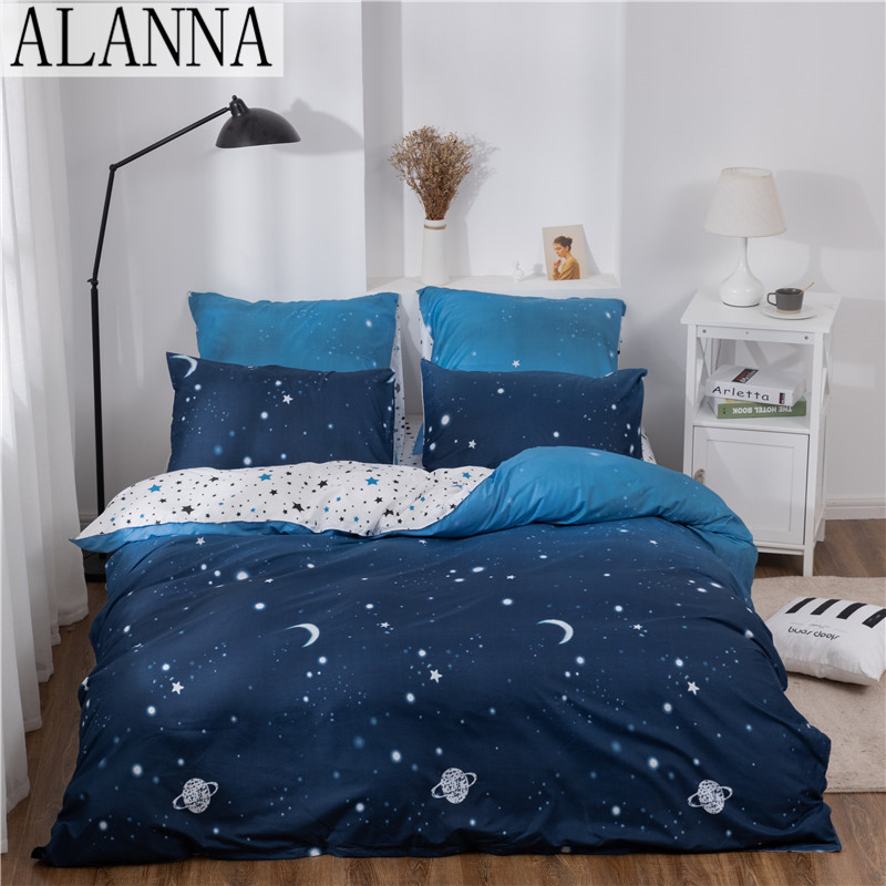 Alanna X-ALL Printed Solid bedding sets Home Bedding Set 4-7pcs High Quality Lovely Pattern with Star tree flower 1