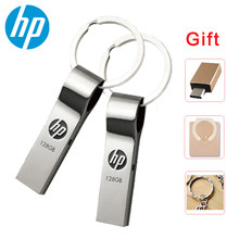 Pendrive original do metal da movimentação 64 gb 32 gb v285w do flash de hp usb na vara de u da memória da corrente chave 16 gb 8 gb para o computador portátil(China)