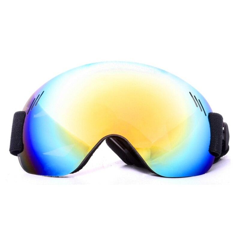 Shock-resistant Anti-Fog UV Protection Sports Glasses Winter Outdoor Ski Snowboard Goggles Spherical Lens Frameless Eyewear