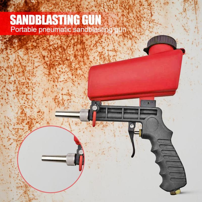 90psi Mini Aerodynamic Spray Gun Aluminium  Handheld Gravity Pneumatic Sandblaster Gun 700cfm Lightweight Power Machine