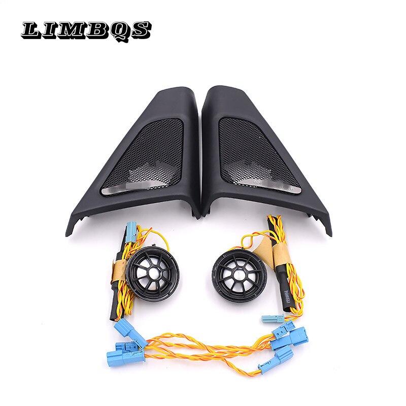 Wysokiej jakości wysokotonowe pokrowce do bmw f10 f11 5 series głośniki audio trąbka głowy treble głośnik ABS materiał oryginalny model fit