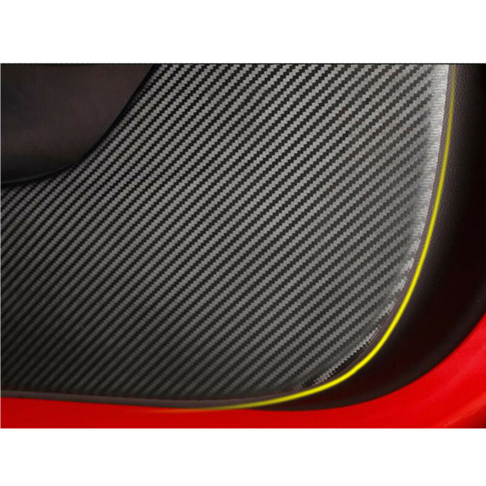 4pcs New Car Door Sticker Mat For Tesla Model 3 Carbon Fiber PVC Sticker Car Decoration Sticker Accessories Fashionable