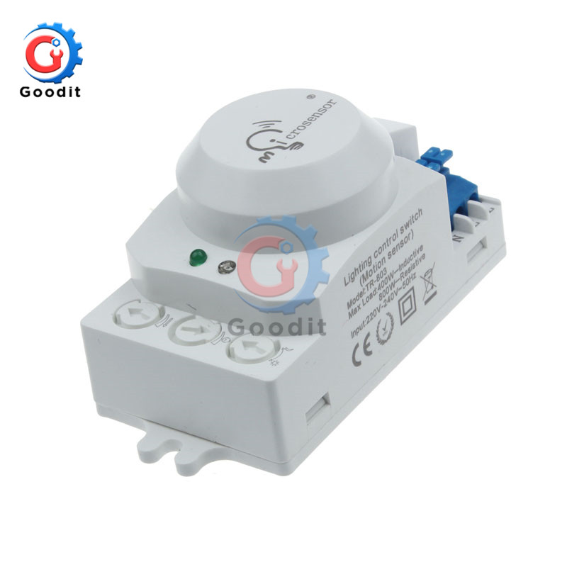 Etouch AC220-240V 5,8 GHz 360 Grad Zeit Einstellung Mikrowelle Sensor Radar Körper Sensor Motion HF Detektor Licht Schalter