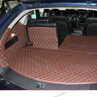 Lsrtw2017 가죽 자동차 트렁크 매트 쌍용 액티언 용화물 라이너 2006 2007 2008 2009 2010 2011 커버 액세서리 카펫