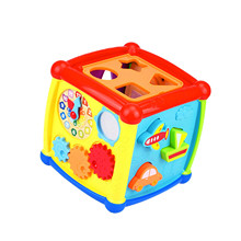 40# Baby Activity Building Blocks 6-in-1 Baby Learning Toys Play Set With Sound Early Learning Educational Toys Children