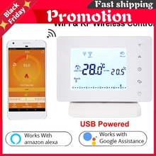 306rf Wireless Thermostat Wifi Smart Temperature Controller Room Thermostat For Gas Boiler Works With Alexa Google Home